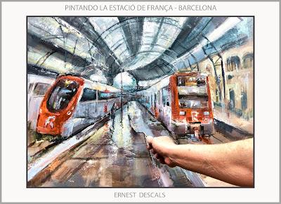 ESTACIÓ-FRANÇA-BARCELONA-PINTURA-PINTANDO-CUADROS-PAISAJES-FOTOS-ARTISTA-PINTOR-ERNEST DESCALS-