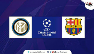 لعبة برشلونة ضد انتر ميلان بث مباشر