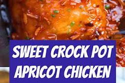 Sweet Crock Pot Apricot Chicken Recipe #crockpot #chicken #apricot #easymeal