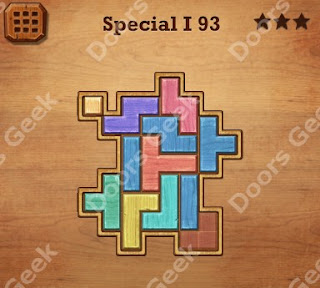 Cheats, Solutions, Walkthrough for Wood Block Puzzle Special I Level 93