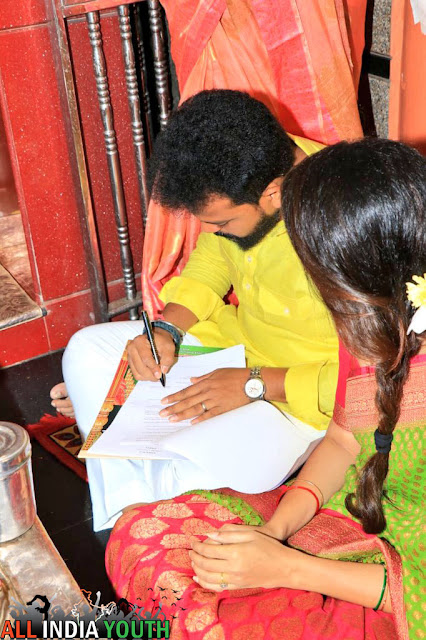 Ram Mohan Naidu with his wife