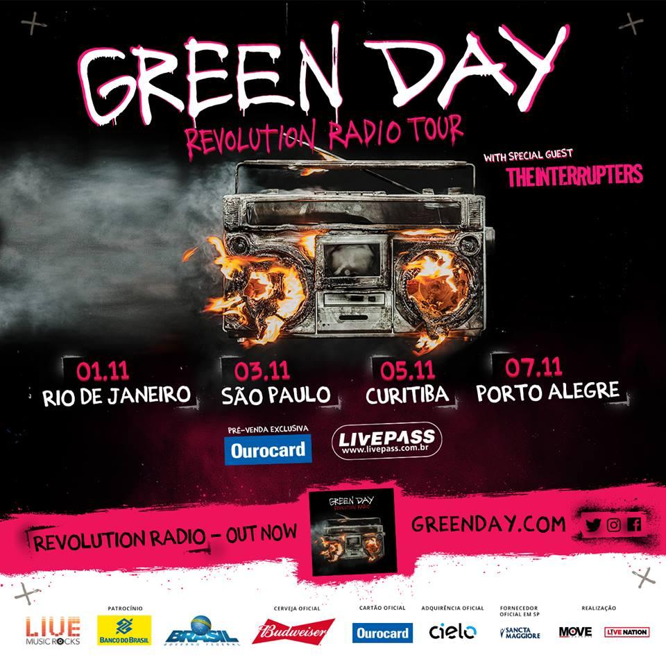 a espera acabou green day anuncia 4 shows no brasil. Black Bedroom Furniture Sets. Home Design Ideas