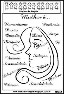 Dia da mulher com mensagem