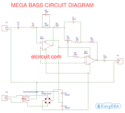 Mega Bass Circuit using 4558