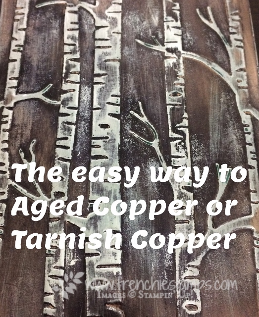 Stampin'Up! age Copper, Woodland Embossing Folder, Tarnish Copper,