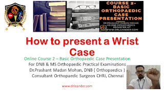 how to present a wrist case