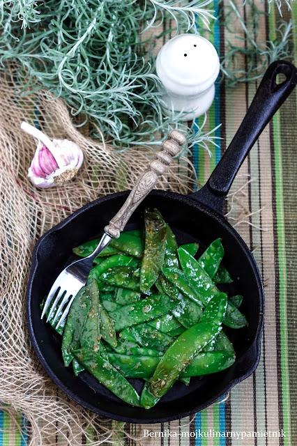 groszek cukrowy, warzywa, obiad, bernika, kulinarny pamietnik