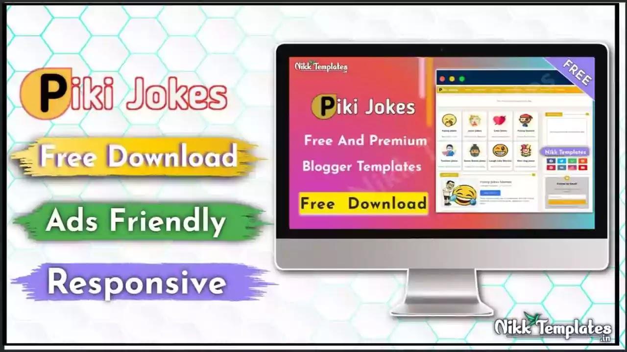 [Paid] Piki Jokes - Responsive Blogger Template {Free Blogger}