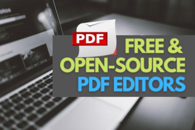 أفضل 3 برامج للتعديل على ملفات PDF مجانية ومفتوحة المصدر