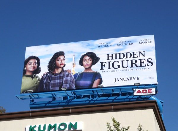 Hidden Figures film billboard