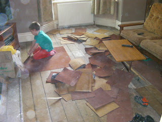 exposing floorboards house refurbishment