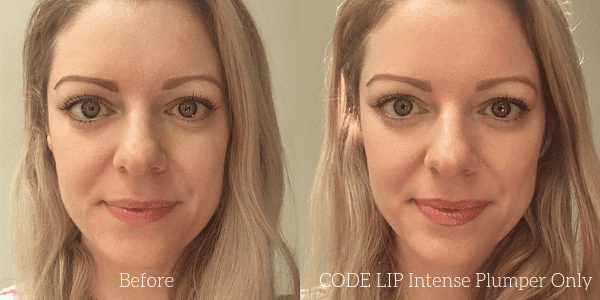 CODE LIP intense lip plumper before and after photo