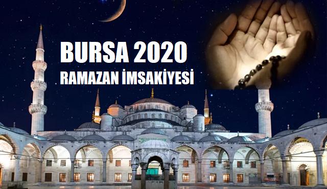 Bursa 2020 Ramazan İmsakiyesi, İftar, İmsak, Sahur Saatleri