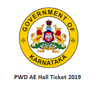 PWD AE Hall Ticket