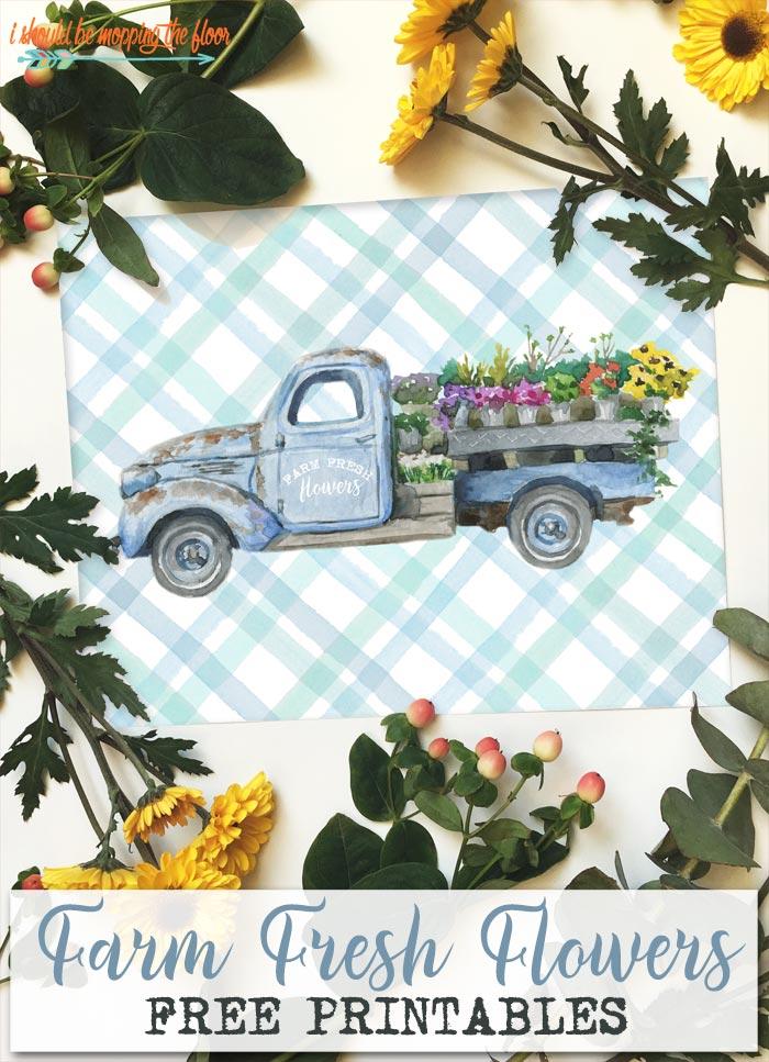 Farm Fresh Flowers Printables