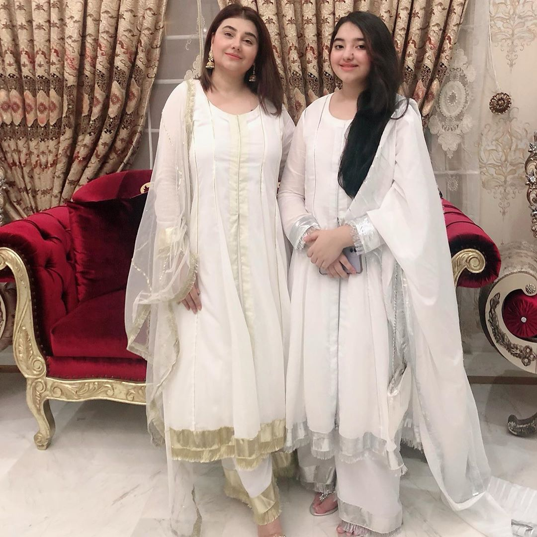 Beautiful Family Pictures of Javeria and Saud on Eid ul Fitr