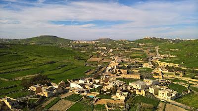View from the Cittadella, Victoria.
