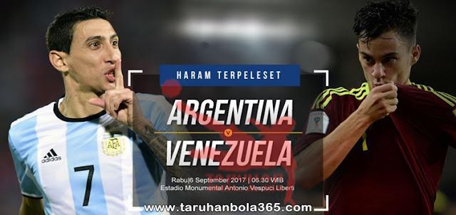 Prediksi Taruhan Bola 365 - Argentina vs Venezuela 6 September 2017