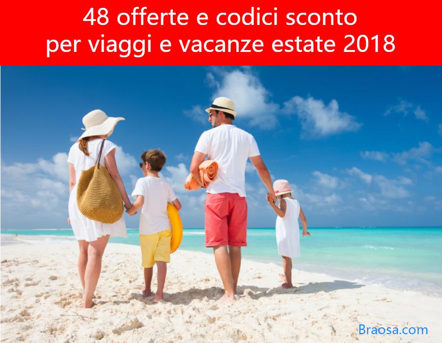 48 offerte e codici sconto per vacanze estate 2020