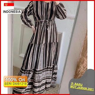 Dmb1218 Dress Wanita Azura Maxy Dress Rayon Premium Hits Wanita Muslimah Hijab