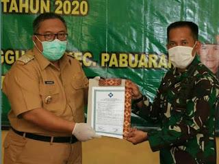 Penutupan Bhakti TNI Tahun 2020, Dandim 0622 Laporkan Target Sasaran Yang Telah Dicapai