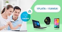 Castiga 1 laptop + 1 tableta + 1 smartwatch - concurs - credit - imprumut - bani - premii - gratis - castiga.net