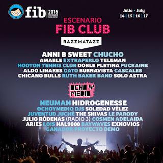 FIB, 2016, Benicassim, Festival, Música, FIB Club, Razzmatazz, Ocho y Medio