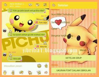 Download BBM Mod Pikachu v3.0.0.18 Apk Terbaru Agustus 2016