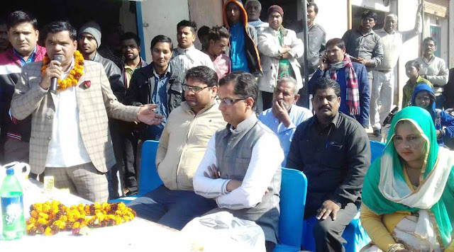 Senior Deputy Mayor Devendra Chaudhary inaugurated development work in Ward 25