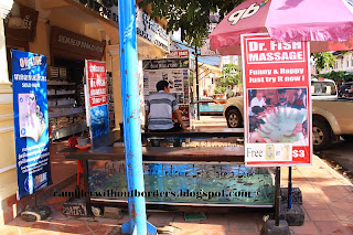 Doctor Fish stand, Sieam Reap, Cambodia