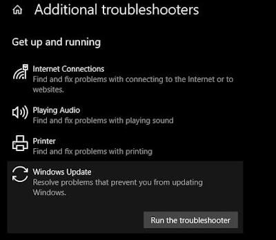 قم بتشغيل مستكشف أخطاء Windows Update ومصلحها