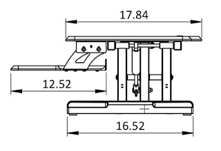 high tide workstation dimensions