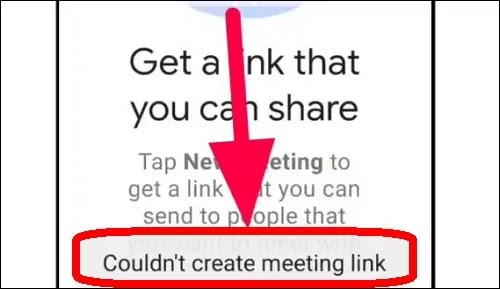 How To Fix Meet Couldn't Create Meeting Link Error Problem Solved in Google Meet App