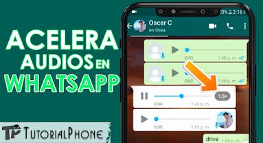 como acelerar los audios en WhatsApp