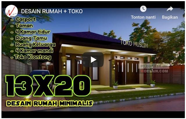 Desain Rumah dan Toko Kelontong