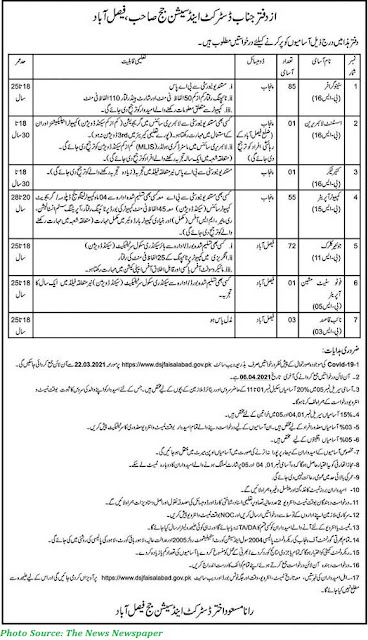 District and Session Court Faisalabad Jobs 2021 Latest 215+ Posts of Junior Clerks, Steno and Computer Operators