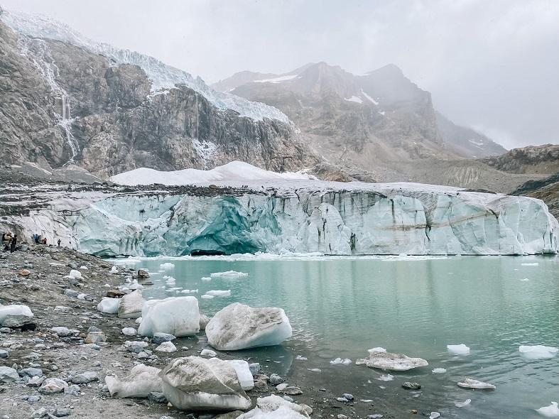 Il ghiaccaio Fellaria in Valmalenco