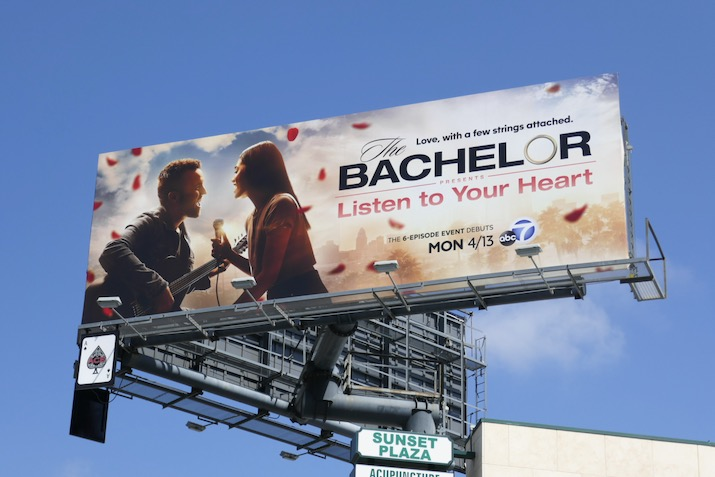 Bachelor Listen to Your Heart billboard