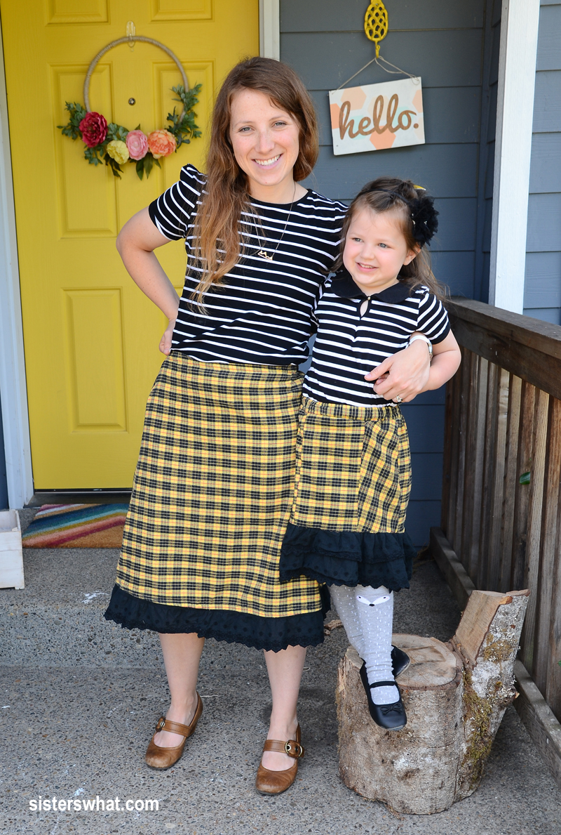 cute matching gathered skirts mother daughter