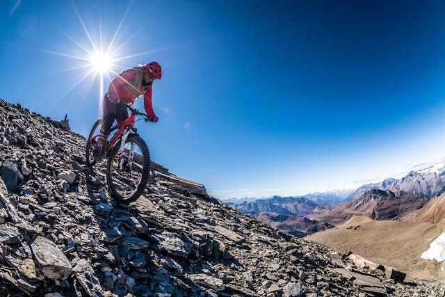 Bikebilder aus dem Trail Pointe du Lamet