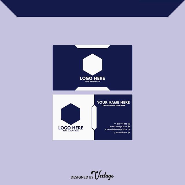 blue business card design,