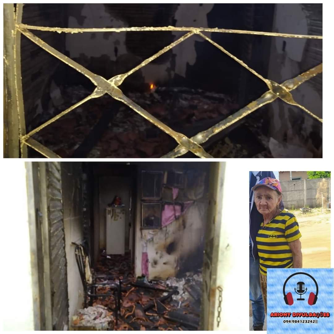 Idosa é vítima de latrocínio e tem corpo incêndio