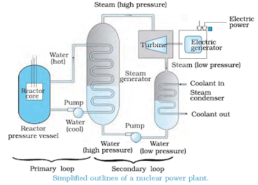 Nuclear power plant, basic diagram of nuclear power plant