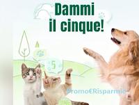 Logo Concorso Oasy dammi il cinque : vinci gratis forniture per cani e gatti e soggiorni con il tuo Pet
