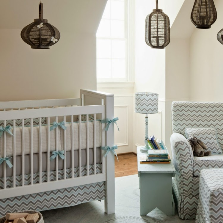 dormitorio bebé gris celeste