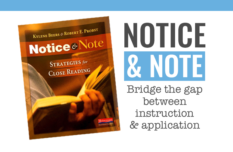 Teaching reading comprehension strategies that never seem to make it into your students' reading?  Notice and Note is a simple and practical bridge to helping our students recognize when to stop and think deeply.
