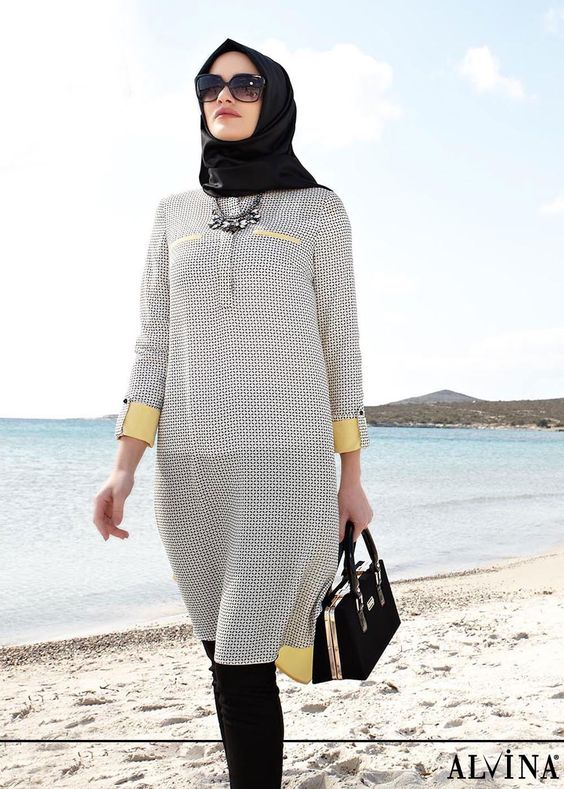 30+ Gaya Fashion Hijab Casual Terbaru 2017