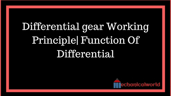 Differential gear Working Principle Function Of Differential