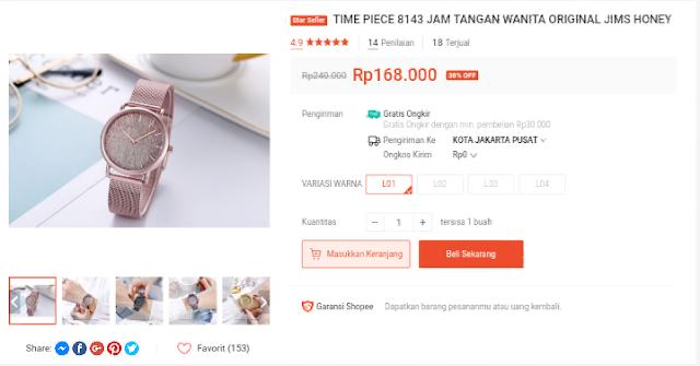 Rekomendasi Harga Jam Tangan Murah Di Shopee Untuk Wanita Gratis Ongkir Terbaru 2020