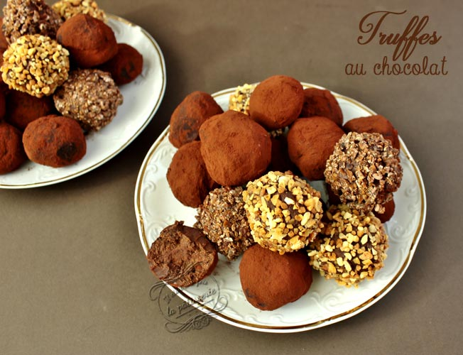 recette truffes chocolat noir